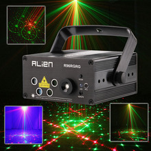Led Mini Laser Projector RG Stage Lighting Effect Disco Bars Light Family Party Lights Show 110V 220V DJ Equipment(China)