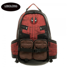 Deadpool Marvel Comics Super Hero Movie Civil War School Bags Men Rucksack Mochila Laptop Bag Backpacks shoulder crossbody bags(China)