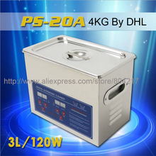 Digital Ultrasonic Cleaner 3L 220V 120W PS-20A 40Khz Timer&Heating 100W with free basket for small parts bath mainboard 110V