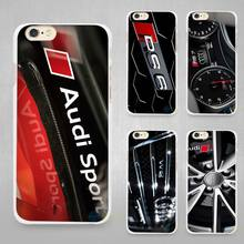 Audi RS4 RS6 RS7 RS8 Hard White Cell Phone Case Cover for Apple iPhone 4 4s 5 SE 5s 6 6s 7 Plus