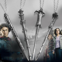 Movie Necklace Wholesale Price Cool Harry Hermione Dumbledore Voldemort Magic Wand  Pendent Necklace