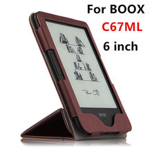 Case For BOOX C67ML PU Protective eBook Reader Smart Cover Protector leather For boox C67ML Carta C67ML Carta 2 Sleeve 6'' Cases(China)