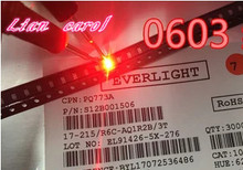 4000pcs/lot LIGHT Small red lamp beads 0603 SMD LED 0603 RED Light-emitting diodes Free Shipping(China)