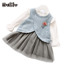 Baby Girl Clothes Princess Costume Girls Long Sleeve Dress Patchwork Spring Baby Dresses Girls Easter Dress Children Clothing