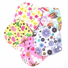 New 6*6 Inch Menstrual Pads Washable Reusable Bamboo Cloth Sanitary Maternity Minky