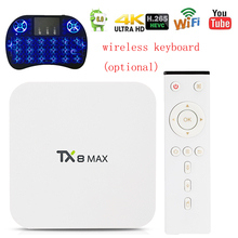 TX8 Max Android 6.0 TV BOX 3GB RAM 32GB/16GB Amlogic S912 octa-core Smart TV Box WIFI 4K*2K H.265 Bluetooth Media Player pk A95X