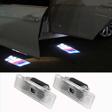 2X LED Car Door Laser Projector 3D Ghost Logo Shadow Light Decoratived LED Welcome Light For BMW E39 E53 Free Shipping