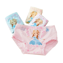 Buy 4 Pcs/lot New Children 's Underwear Cotton Cartoon Triangle Underwear Girls Printed Panties Cute Princess Underwear