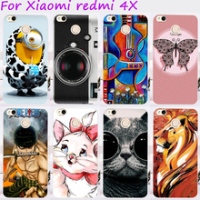 TAOYUNXI Cell Phone Case For Xiaomi Redmi 4X Cover 5.0 inch Hard Plastic TPU Yellow Lovely Animal Skin Bags Housings(China)