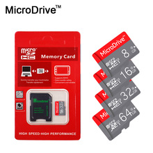 Microdrive Micro SD Card 8GB 16GB 32GB Class 10 SDHC Memory Card 64GB Class 10 SDXC REAL Capacity for Mobile phone/Camera/Tablet(China)