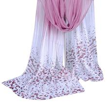 Factory Price Fashion Women Long Leopard Shade Shawl Scarf Wrap Chiffon Scarves beach blanket swimwear ponchos de foulard soie