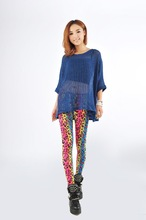 MM new fashion personality nightclubs fluorescent rainbow colored leggings leopard leggings was thin lady pants