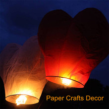 5pcs/lot Heart Shape Flame Resistant Biodegradable Paper Flying Sky Lantern Wedding Party Decorations