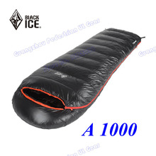 Black Ice A1000 white DUCK down 2015 new arrival high quality Hybrid winter outdoor camping sleeping bag(China)