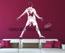 Ronaldo Wall Stickers Football Players Decals Boys Girls Bedroom Labels Vinyl Removal Art Decorative Wallpapers