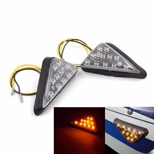 (A Pair 12V ) Universal Fashion Triangle Flush Mount Motorcycle LED Turn Signal  Indicator taillight Cornering light