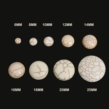 Hot Sale 6-25mm Synthetic Howlite Beads Dome Cabochons Flatback Scrapbooking 3D Domes Seals Cabochon for Craft Cameo
