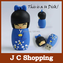 u disk Japanese dolls usb flash pen drive 2g 4g 8g 16g 32g 64g dolls flash usb memory stick pen drive gifts disk free shipping(China)