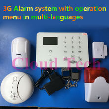Wireless Wired House 3G Alarm system Touch Keypad Panic Alarm King Pigeon K9 WCDMA alarm SMS APP controlled Home Security alarm