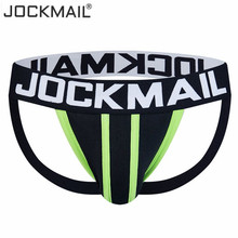 Buy JOCKMAIL Brand Mens Underwear Jock Straps Sexy tanga Cotton Men Jockstraps Gay Penis Pouch Thong G Strings Backless Buttocks