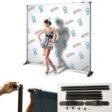 Free Shipping!8'x8' Step And Repeat Backdrop Telescopic Pop Up Banner Stand System For Trade Show(China)