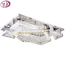 LED Crystal Ceiling Lamp Bedroom Ceiling Lights Silver Crystal Ball K9 Modern Ceiling lights Rectangle LED Cristal Lustre