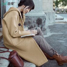 INMAN 2017 women Winter Winter hooded solid color Loose Coat(China)