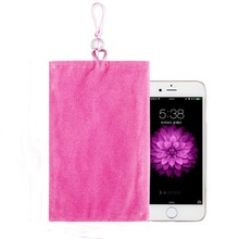 "5.5""Universal Phone Velvet Pouch Fabric Holder Common General Phone Socks Housing For 5.5inch Screen Smartphones Ipod MP3 MP4"