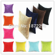 Free Shipping Custom 40/45/50/55/60/70cm 2.5Wales Nylon/ Polyester Corduroy Striped Cushion Cover 14 Colors HT-NPCDC-03(China)