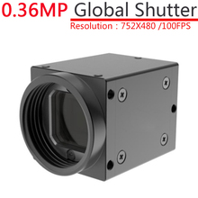 High Speed USB 0.36MP Monochrome Industrial Digital Camera + SDK, With External Trigger, Global Shutter 752x480@100FPS OpenCV(China)