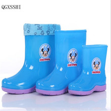 QGXSSHI Children's Rain Boots cute cartoon Boys and Girls slip Baby shoes, overshoes Water shoes for Children Rubber Shoes