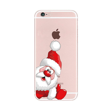 2016 Fashion cartoon christmas hat bow star socks tree gift santa claus elk deer clear tpu case For Samsung Galaxy Cell Phones