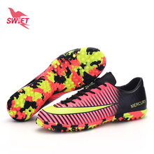 Profession Camouflage Mens Turf Soccer Shoes 2017 New Top Football Boots Cheap Futsal Cleats TF Soccer Sneakers Crampons De Foot