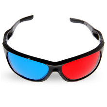 Excelvan Wonderful Sunglasses-Shaped Red Blue Lens Anaglyph Circularly 3 Dimensional 3D Glasses for 3D Games 3D DVD Movies