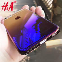 H&A Luxury case For iPhone 7 6 6s Cases cover Blue Ray Gradient Light Phone Cover For iphone 7 6 6 Plus 7Plus Case Capa Coque
