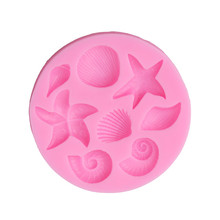 variety of marine life shells cooking tool DIY cake mold baking tools mold Christmas decoration silicone mold ZQ892260