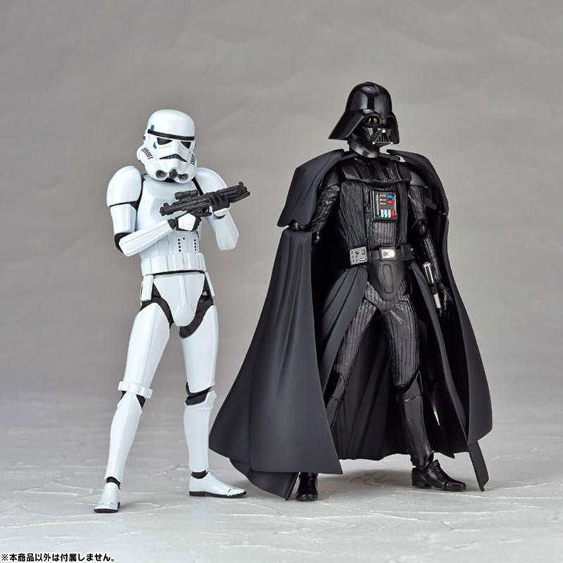 Hot Sale Star Wars 7 Action Figures Toys 16cm Darth Vader &amp; Storm Trooper PVC Model Figma Anime Collection Dolls for Kid Gifts<br><br>Aliexpress