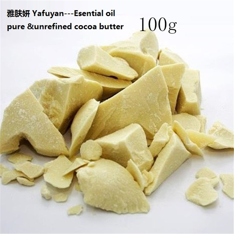 Cosmetics YAFUYAN 100g Pure Cocoa Butter Raw Unrefined Cocoa Butter Base Oil Natural ORGANIC Essential Oil food grade 1