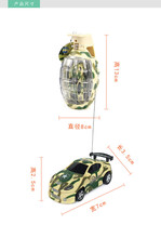 Hot! 7cm Mini Car with LED Grenade model remote control Stunt car Robot RC Toy Funy Pocket Gift For Kids Children