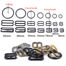 20pcs 6mm~25mm Metal/Plastic Bra Strap Adjustment Buckles Underwear sliders Rings Clips For Lingerie Adjustment DIY Accessories(China)