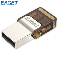 Official Licensed EAGET V9 USB 2.0 8gb 16gb 32gb Ultra Thin Rotation Cap Metal USB Flash Drive Portable OTG USB Stick Pendrive