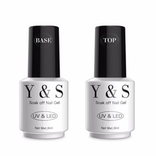 Y&S Easy Soak Off Gel Nail Polish 8ml Base Gel Top coat UV/LED Nail Art Gel Polish Builder Acrylic Polish Set(China)