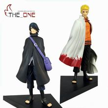 "2 Pcs/Set 18 cm 7"" Cartoon The Last Naruto & Sasuke Anime Action Figure PVC Toys Kids Adult For Decoration Collection Gift  P002"