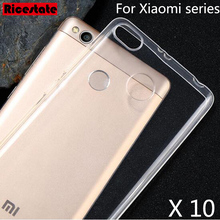 10 Pcs Clear Soft Cover Back For Xiaomi Mi2 Mi3 Mi4 Mi4i Mi4S Mi5 Mi5s Mi5c Plus Mi6 Mix Max Redmi Note 2 3 3S 4 Pro 4A 4X Case(China)