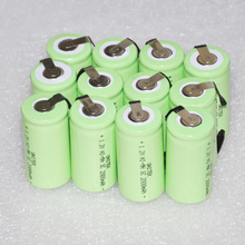 Stock Clearance 12PCS UNITEK 1.2V rechargeable battery 2000mah Sub C SC ni-mh nimh cell with pins for power drill,vacuum cleaner