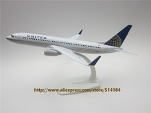 20cm Metal Alloy Plane Model Air UNITED Airlines Aircraft Boeing 737 B737 Airways Airplane Model w Stand