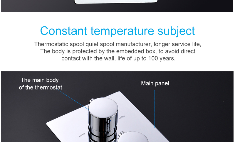 10'' Thermostatic Shower Systems Mixer Valve Set Install The Box Mixing Valve Handheld Bathroom Fold The Faucet Bath Shower Set (17)