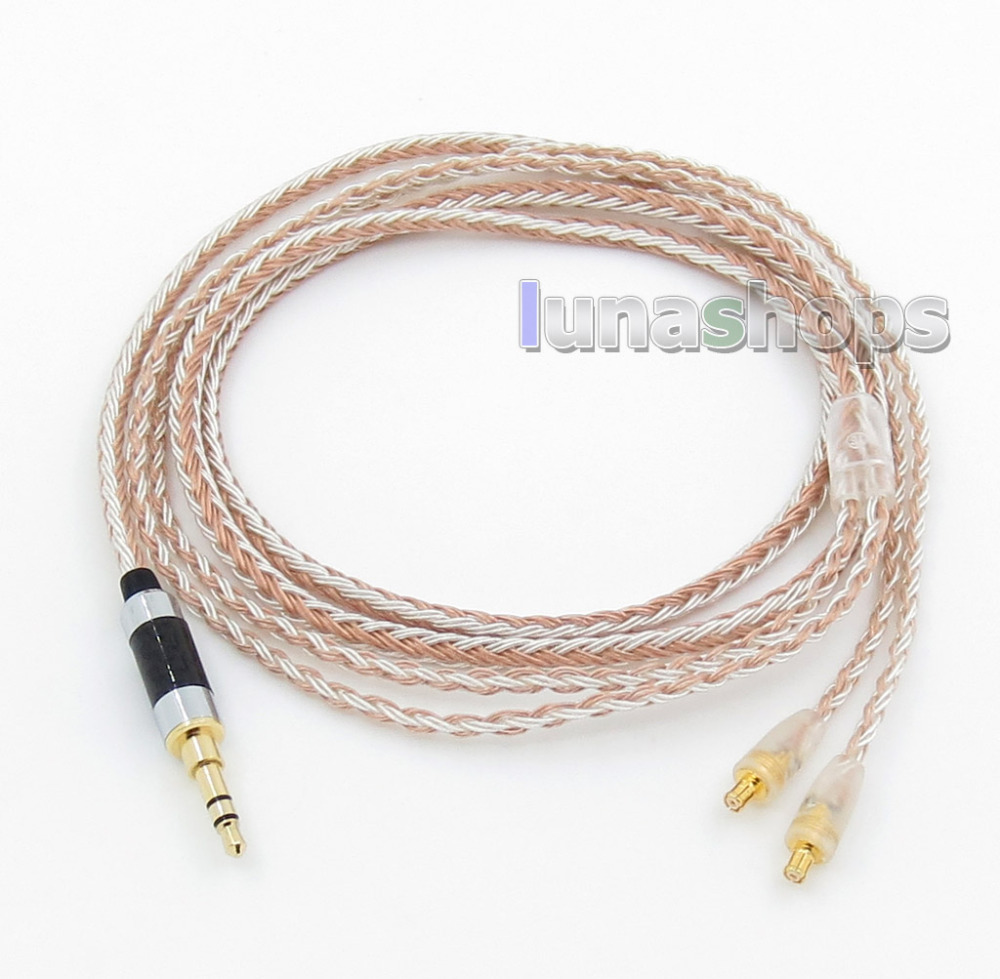 3.5mm 16 Cores OCC Silver Plated Mixed Headphone Cable For CKS1100 E40 E50 E70 LN005837