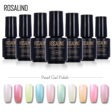 ROSALIND 7ml  Pearl UV Nail Gel Polish Pure Color UV Gel Polish Soak Off Led Professional Gel Polish Long Lasting Gel