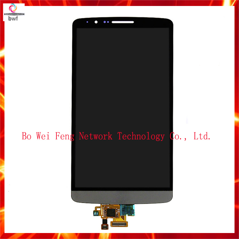 10Pcs High Quality Gray For LG G3 D855 D850 LCD Display Touch Screen + Digitizer glass Full Assembly  , free shipping+Tracking<br><br>Aliexpress
